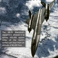 SR-71 With it's awesome survey ability