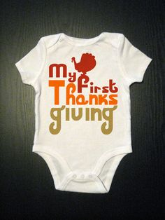 My 1st Thanksgiving Baby Onesie Holiday by VicariousClothing, $15.00