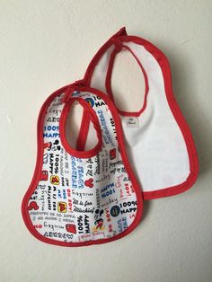 2 Mickey Mouse Baby Bibs by LolliApparel on Etsy