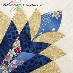 Cleopatra s fan quilt block