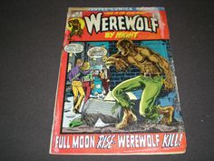 Werewolf by Night 1, (1972), Marvel Comics by HeroesRealm on Etsy