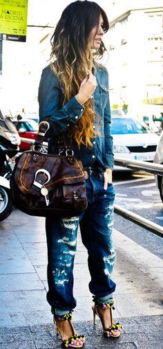 boyfriend jeans, love thissssssss!!