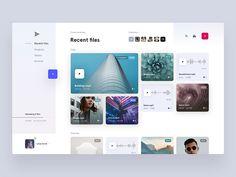 Recent files page concept by Jakub Antalík