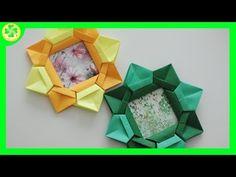 Ramka Origami na ZdjÄ™cia / Origami Photo Frame Gato Origami, Instruções Origami, Origami Videos, Origami And Kirigami, Origami Ball, Origami Bookmark, Origami Flowers, Origami Hearts, Origami Boxes