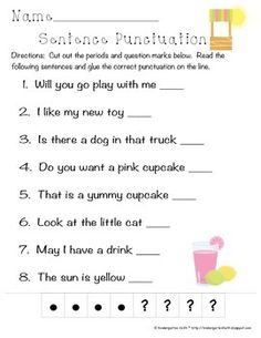 Comma Worksheet for Kindergarten Punctuation Activities, Grammar And Punctuation, Grammar Lessons, Grammar Review, Kindergarten Journals, Kindergarten Writing, Teaching Writing, Literacy, School Worksheets