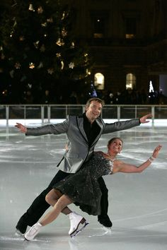 Jayne Torvill and Christopher Dean at the Somerset House Ice Rink opening gala presented by Tiffany & Co 2008 PA Carl Court