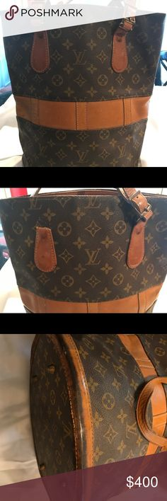 Louis Vuitton Vintage French Company bucket bag Vintage Louis Vuitton bucket purse French made strap is broken needs cleaning please refer to photos Louis Vuitton Bags Shoulder Bags