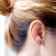 Silver Post Earrings, Sterling Silver Stud Earrings, Round Earrings, Dot Studs, 7mm Silver Earrings, Samll Studs, Recycled Earrings, Trendy