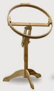 Grace, Wood, Hoop, 14 , Hand, Quilting Frame, on Birch Stand, with ... : grace quilting hoop - Adamdwight.com