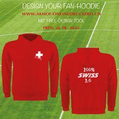 Design dein Hoodie! Free Design Tool und Infos unter: www.akhof-onlinedruckerei.ch #textildruck ##party #event #fanset #design #hoppschwiiz #hoodie #hingucker #swissmade #malwasneues #geschenkideen #geschenke #fussballwm #worldcup #russia_wm #russia2018 #fanfest #fanparty #fanshirt #swissfans #printdesign #swissfans #swissfootball #freedesign #schweizernati #worldcup2018 #fanhoodie #hoppschwiiz #fifaworldcup2018 Fifa World Cup 2018, Russia 2018, Flyer, Graphic Sweatshirt, Sweatshirts, Party, Sweaters, Design, Fashion