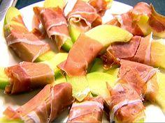 Melon Wrapped In Prosciutto recipe from Ina Garten via Food Network