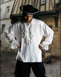 Roberto Medieval Pirate Costume Shirt. $44.95, via Etsy.