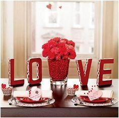 Decoración Para Mesas de San Valentin
