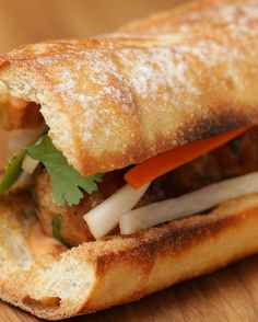 Brush Up Your Vietnamese-Style Cooking Chops With This Banh Mi Meatball Sandwich