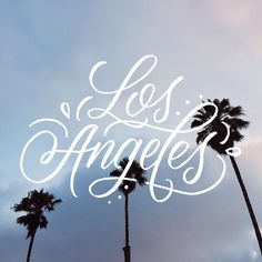 Los Angeles - brush lettering by Wink & Wonder
