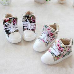 BÉBÉ Fleur Floral Enfants Chaussures DE Toile DE Filles DE Garçons D'Espadrille | eBay