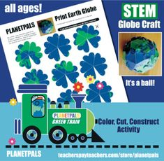 Planetpals Craft Page: Make Printable Earth Ornament for Earthday , Earth Week, Geoirgraphy, Earth Learning Class Unit. Earth Science Lessons, Science Topics, Science For Kids, Activity World, Friendship Activities, Globe Crafts, How To Age Paper, World Environment Day, Paragraph Writing
