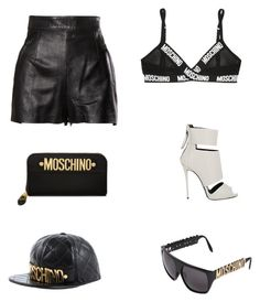 """Senza titolo #473"" by annadallolio ❤ liked on Polyvore featuring Moschino and Giuseppe Zanotti"