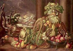 Giclee Print: Winter by Giuseppe Arcimboldo : Giuseppe Arcimboldo, Collections Of Objects, High Renaissance, Italian Painters, Italian Artist, Art Reproductions, Figurative Art, Food Art, Fun Food