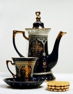 Teapot, Teacup And Cookies  Photographer: Ivan Bondarenko  From Russian Federation