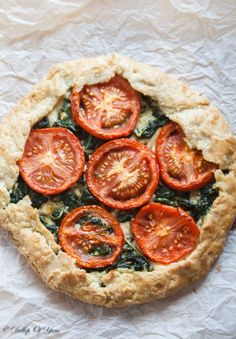 tomato spinach parmesan fennel galette-7