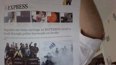 BREAKING : MIGRANTS RAM POLICE BARRICADE AT GREEK BORDER - TNTV