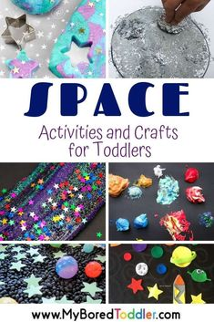 Space activities and craft ideas for toddlers and preschoolers- fun Space activiites for toddlers and preschoolers - great for STEM or STEAM learning activities for toddlers Space Activities and Crafts for Toddlers Quiet Toddler Activities, Space Activities For Kids, Toddler Themes, Toddler Fun, Toddler Preschool, Toddler Crafts, Preschool Crafts, Learning Activities, Preschool Activities