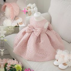 Awesome New Baby Girl Birthday Dress Ball Gown Christening Dresses 1 Year Girl Baby Birthday Dress Baby Girl Dress 6BY032 - $30.02 - Buy it Now!