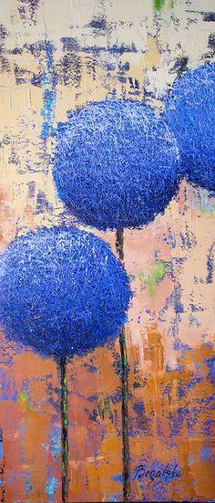 Allium, oil painting by Olena Bogatska