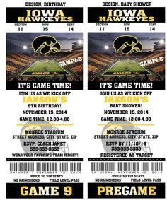 Printable Iowa Hawkeyes College Football Birthday by QtPieWrappers