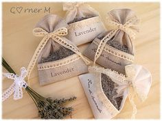 <3   Lavender and Burlap garden theme - throw upon bride+groom exit after ceremony