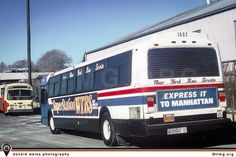 New York Bus Service& GM Photos Classic Suburban) Express Bus, Bus Coach, Busses, Public Transport, Manhattan, New York City, Transportation, Nyc, Gallery