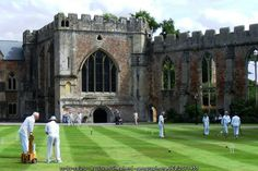 Croquet on The Lawn, Bishop's Palace, Wells