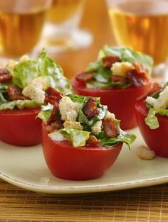 BLT Tomato Cups. Betty Crocker recipe.