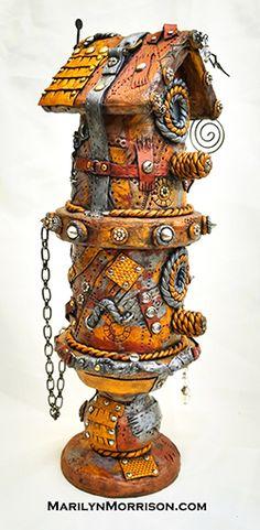 Marilyn Morrison - Polymer Clay Artist Polymer Clay Creations, Steampunk Fashion, Clock, Artist, Style, Watch, Swag, Artists, Clocks