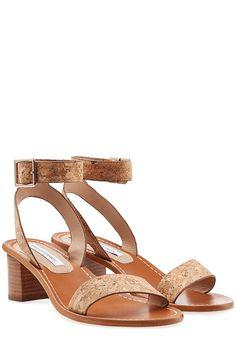 Sandalen aus Leder und Kork detail 0