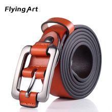 Flying Arte Moda Cinturón De Cuero Genuino para Las Mujeres Hebilla de  cuero de Vaca Cuero. Cinturones ... a474f77a9c1a
