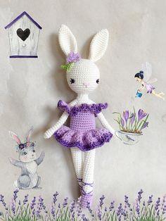 Ballerina Bunny Charlotte I  Easter Bunny  Chrochet doll