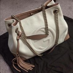 Gucci Soho Canvas Shoulder Tote FIRM PRICE. FIRM PRICE. NO TRADE Used a  handful of time. Very small unnoticeable pink dot. Very good condition. f7c8fef07be78