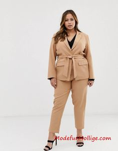 de23cff60df605 2019 Frühling Sommer Grobe Größe Damen Anzug | Mode für Mollige Frauen -  Blazer mit zweiteiliger