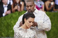 Nearly there!Kanye West yet again exerted his power over his wife Kim Kardashian's style as they walked the red carpet at the Met Gala in New York on Monday night