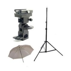 Good for portraits at weddings    $32 CowboyStudio Single Flash Shoe Swivel Bracket Kit with 1 Mounting Bracket, 1 Umbrella, and 1 Stand Stand