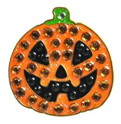 Mark Your Spot with BLING CRYSTAL Jack O'Lantern Ball Marker! A fun way to celebrate Halloween with this frightfully cheerful pumpkin ball marker. Keep the fright going with our Witch, Spooky Haunted House and Ghost ball markers for a great set!