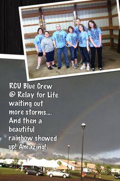 #RCUBlueCrew at #RelayForLife Rainbow