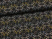 "Jersey ""Bikeleidoscope Jet"" schwarz Fahrräder Jet, Fabrics, Patterns, Black, Kids"
