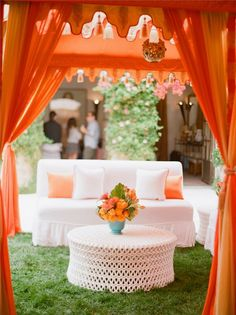 pretty outdoor reception / cocktail hour