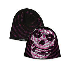 d84944bb1df Check out Misfits Purple Spiral Skull Beanie on  Merchbar. Skull Logo