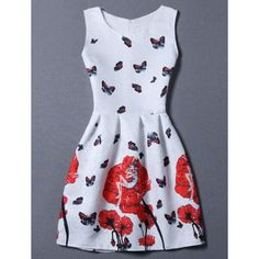 19.41$  Watch here - http://diziw.justgood.pw/go.php?t=176962604 - Sweet Sleeveless Floral Jacquard Round Neck Women's Dress 19.41$