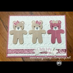Stampin Up Cookie Cutter Baby Bears