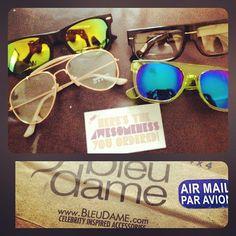 Chegaram :B #sunglasses #bleudame #oculos #aviator